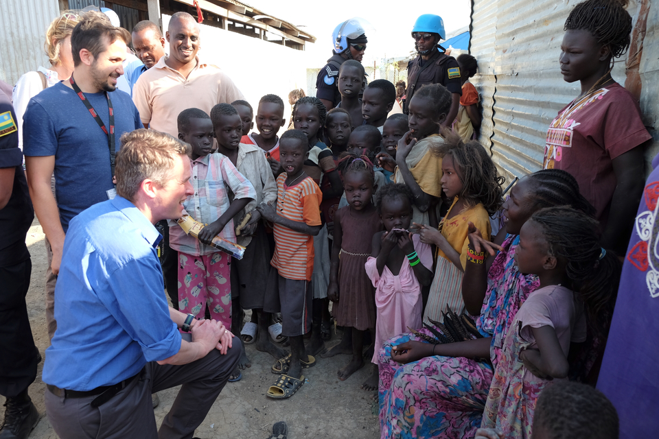 Defence Secretary commends UK peacekeepers in South Sudan