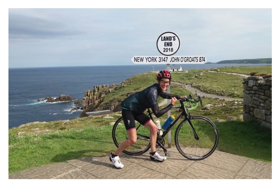 Inspector Rachel Walmsley completed her cycling challenge from Lands End to John O Groats on behalf of charity GRIT.