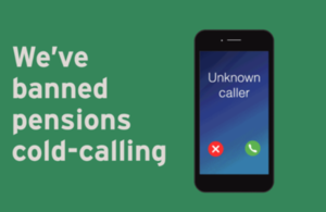 We've banned pensions cold-calling