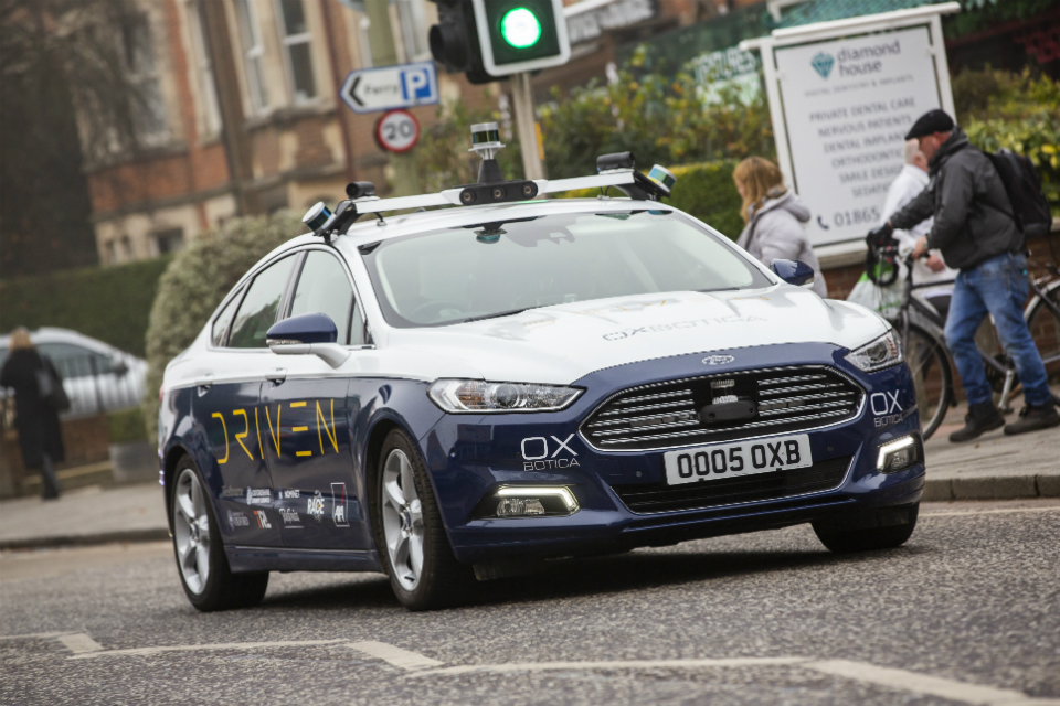 Oxbotica's autonomous vehicle on the streets of Oxford