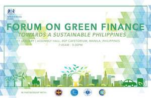 """The UK Government in partnership with the Philippine Government is convening a Forum on """"Green Finance Towards a Sustainable Philippines"""" on 17 January 2019."""