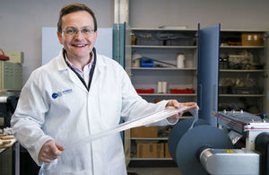 Interface Polymers Chief Scientific Office and Founder Dr Christopher Kay in their laboratory at Loughborough University