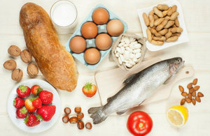 Fish, nuts, milk and other allergenic foods