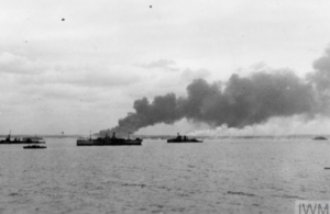 Ships off the coast of Normandy in June 1944.