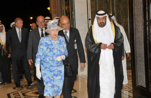 The Queen, escorted by the President of the UAE in 2010