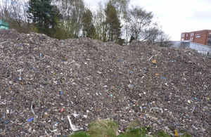 100 tonnes of waste on the site of Special School