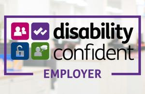 Disability Confident Employer logo.