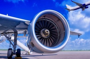 Close up of a jet engine via Frank Peters at Shutterstock