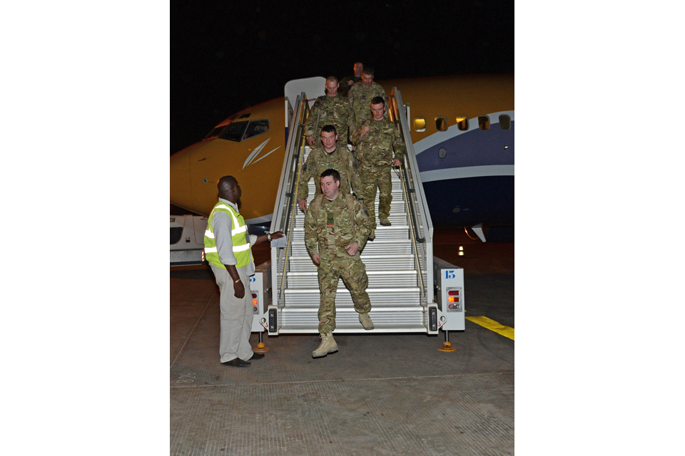 British troops arrive in Mali