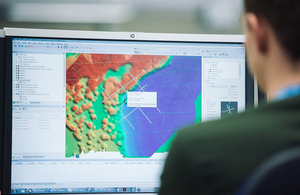 UKHO staff analyse bathymetric data set in British Virgin Islands