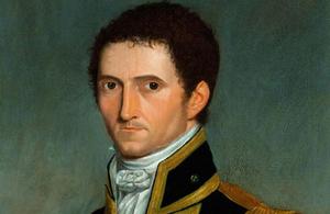 Painting of Captain Matthew Flinders in full uniform