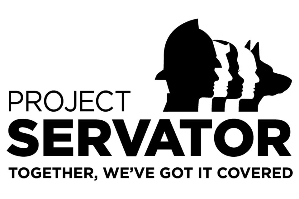 'Project Servator Together we've got it covered' Project Servator Logo. Crown copyright