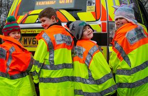 Children in Traffic Officer jackets