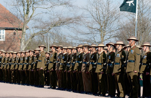 1st Battalion The Royal Gurkha Rifles on parade at Sir John Moore Barracks in Shorncliffe, Kent (library image) [Picture: Corporal Gary Kendall RLC, Crown copyright]