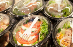 Picture of pre-packaged salad