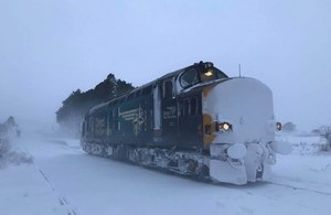 DRS battled the winter weather to become 'The Best Performing Rail Freight Operator'.