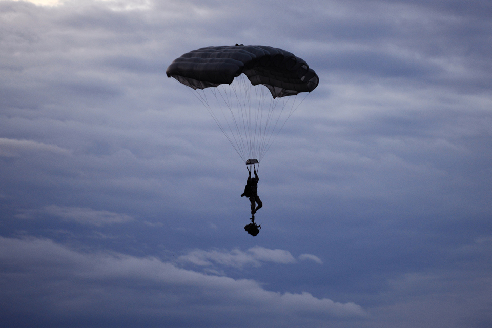 A paratrooper
