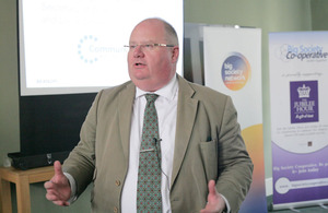 Eric Pickles at the Jubilee Hour launch