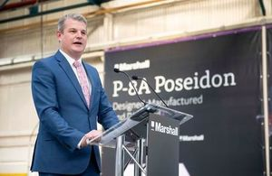 Defence Minister Stuart Andrew at Marshall Aerospace and Defence