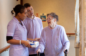 carers with elderly woman