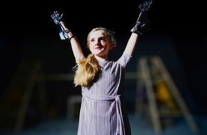 Tilly with her Open Bionics arm