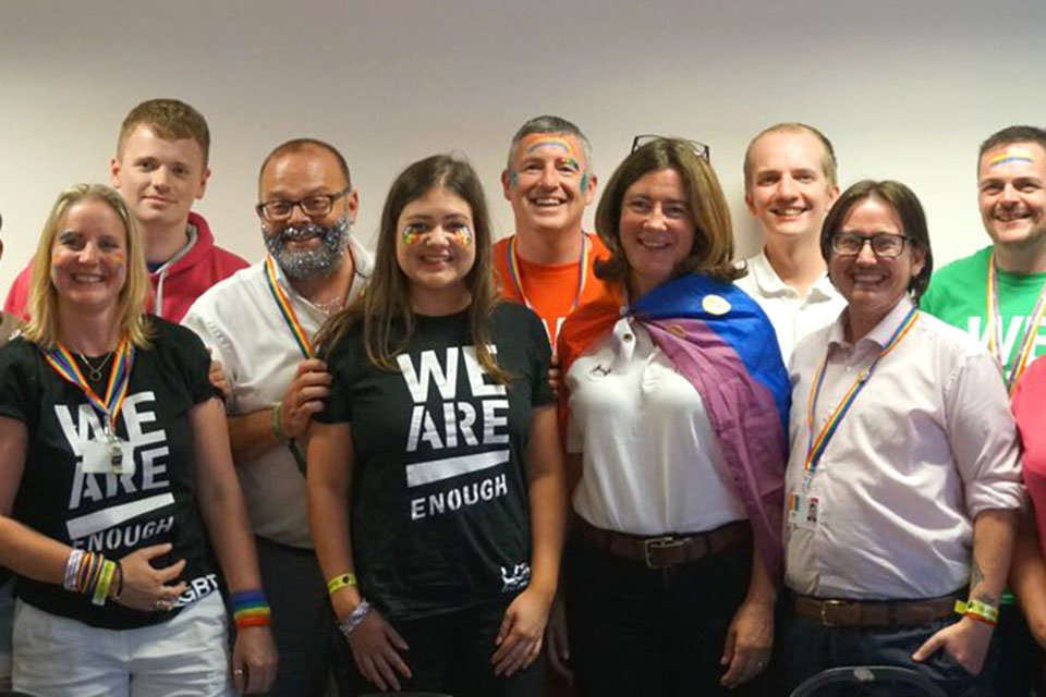 Minister for Equalities, Baroness Susan Williams at Manchester Pride