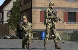 Simulated soldiers