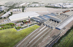 Aerial image showing how Old Oak Common station might look when finished.