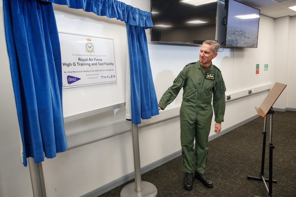 Chief of the Air Staff opening the new facility at RAF Cranwell