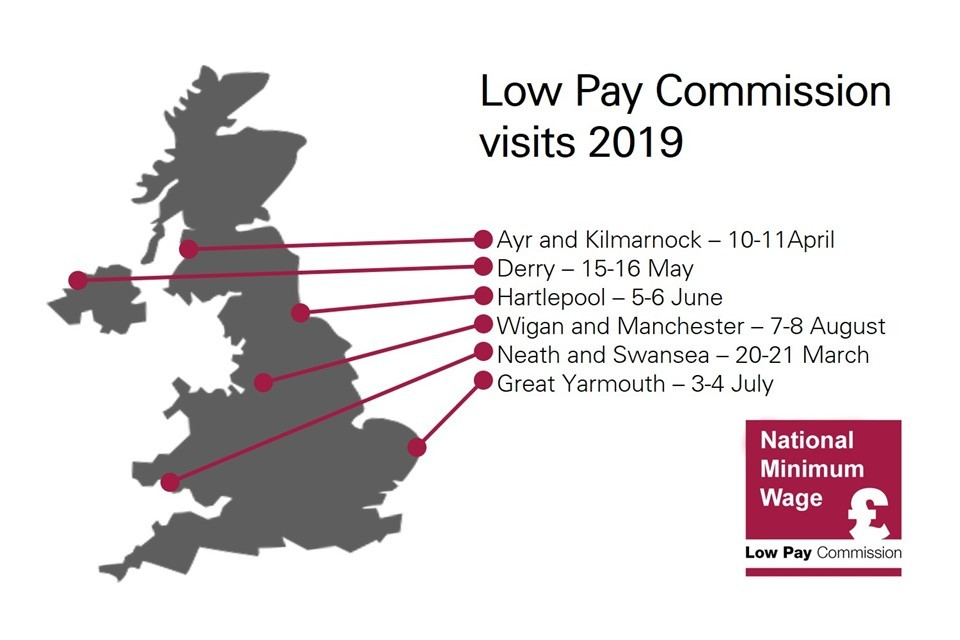 Low Pay Commission S 2019 Visits Announced Gov Uk