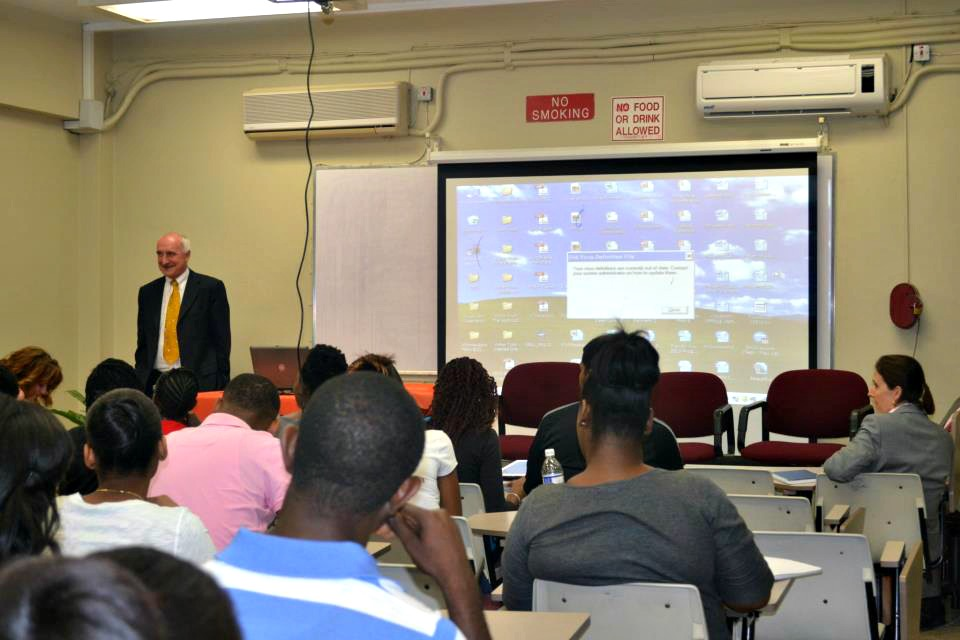 lecture at uwi