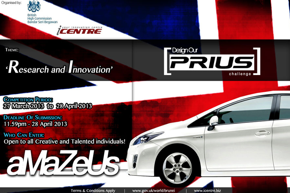'Design our Prius' competition flyer