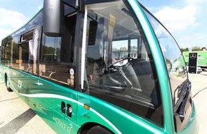 Picture of low emission bus.
