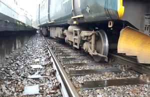 The train following the derailment (image courtesy of Network Rail)