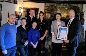 Staff of the Jamaica Inn receiving their award