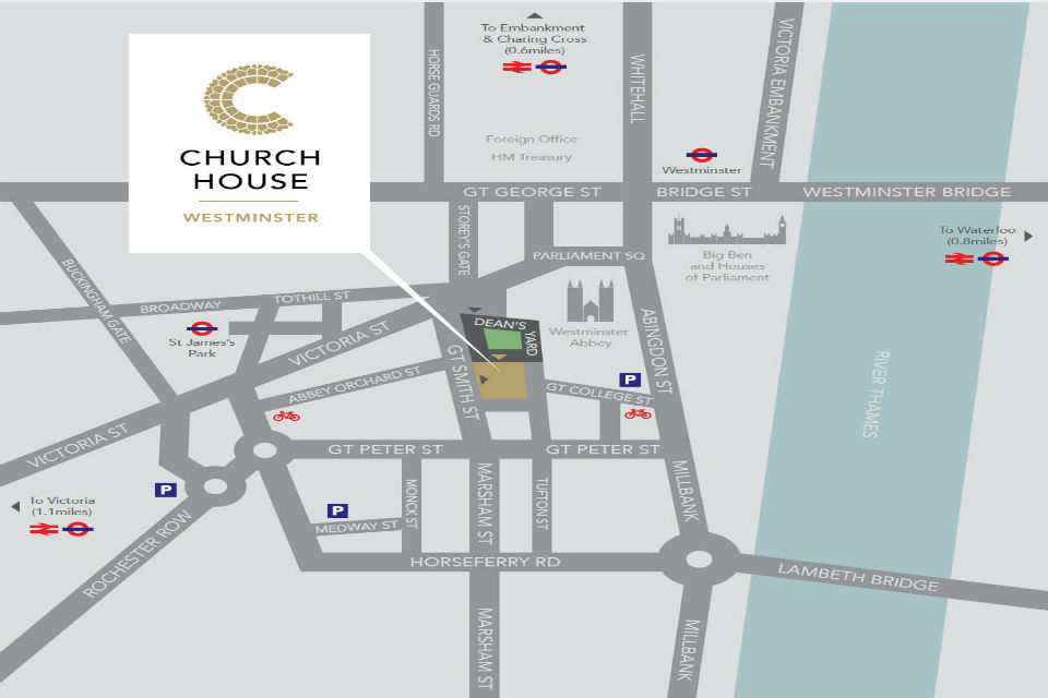 Directions to Church House