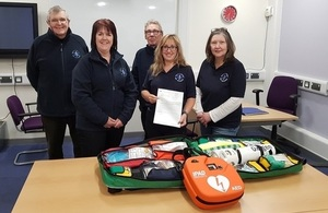 Community First Responders check out their new kit