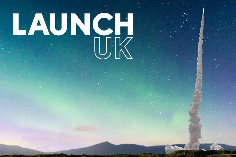 LaunchUK branding poster
