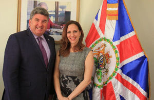 Ambassador Chris Campbell and Mia Vidal, ABRSM Representative for the Dominican Republic.