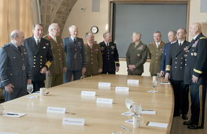 The Joint Chiefs of Staffs gathered for the US-UK Chiefs Committee conference at the national Defense University in Washington DC [Picture: DOD]
