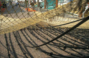 Picture of a pulse trawl net