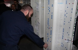 Royal Navy Marine and the pegboard