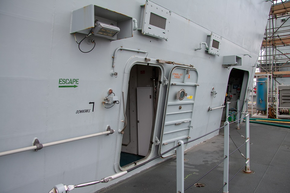 HMS Elizabeth ship doorway