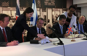 UK International Trade Secretary and Israel Minister of Economy and Industry
