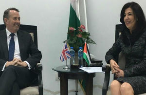 International Trade Secretary and Her Excellency, Abeer Odeh, Minister of National Economy.