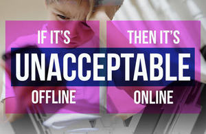If it's unacceptable offline, it's unacceptable online graphic