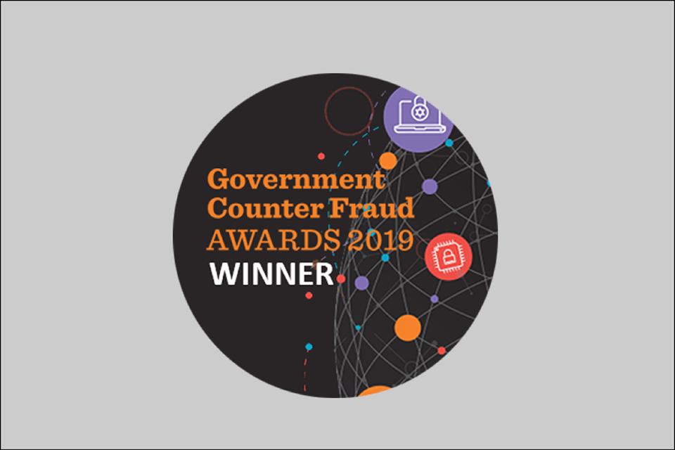 Government counter fraud award winners badge