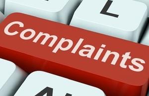 Complaints key on keyboard