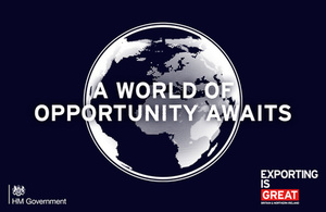 A world of opportunity awaits - Exporting is Great banner
