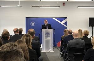 David Mundell delivering the speech